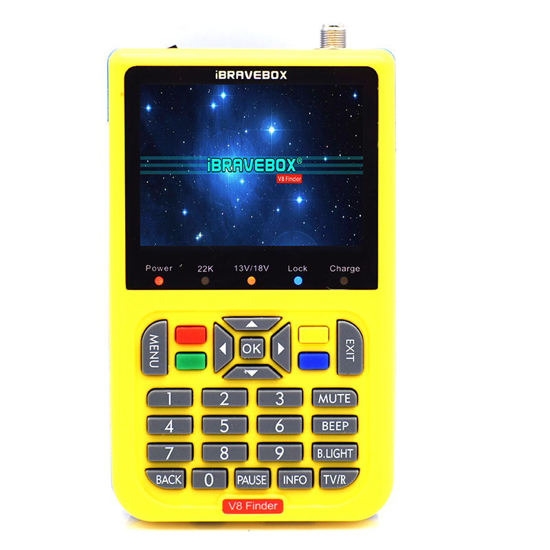 HAOSIHD digital satellite signal finder V8 finder search meter V8 finder for DVB S/S2 with 3.5 inch LCD Colour Screen