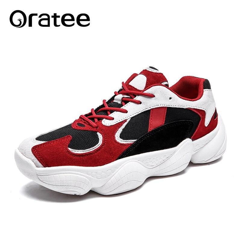 99116b0f76e Chaussures Masculino Vintage En Plein Nouveau Homme Sneaker Sneakers Cuir  Air Pour Tenis Amortissement Mesh Casual Rétro Papa ...