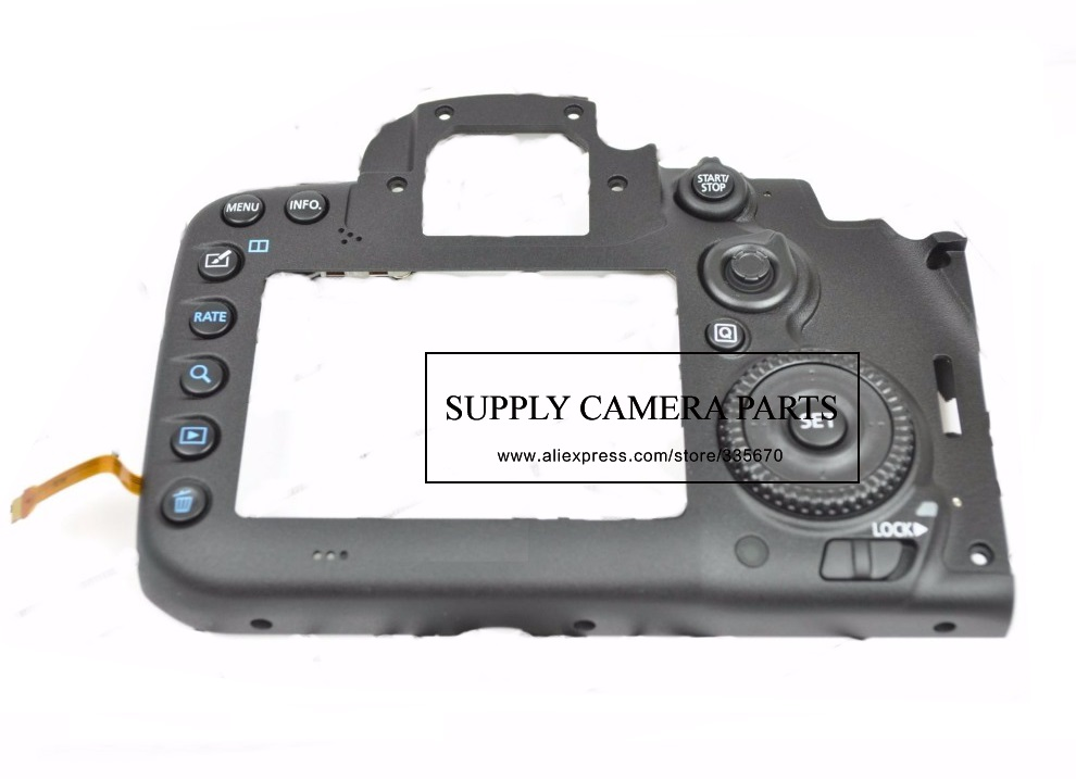 Free shipping ! New Back Cover Case Unit Repair Part For Canon 7D Mark II 7D2 DSLR Camera new top cover small lcd display parameters for canon eos 6d digital camera repair part