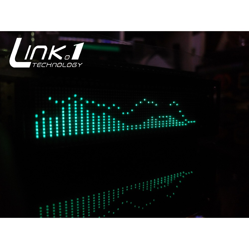 LINK1 VFD Music Audio Spectrum Indicator with the remote control VU Meter Precision Clock Adjustable AGC