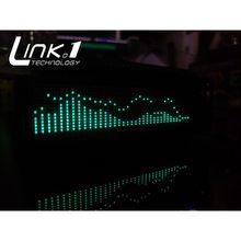 Link1 7115-j vfd music indicador de espectro de áudio/com o controle remoto/medidor vu/relógio de precisão/modo agc ajustável