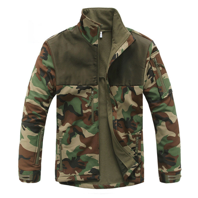 Outdoor Tactical Softshell Jacket Men Windproof Waterproof Jacket Riding Hiking Camping Hunting Training Camouflage Clothing цена и фото