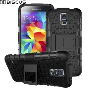 For Samsung Galaxy S5 Neo S 5 SM-G903F/DS G903F G900F SM-G900F/DS Case Armor Hybrid Silicone Hard Plastic Shockproof Stand Cover(China)