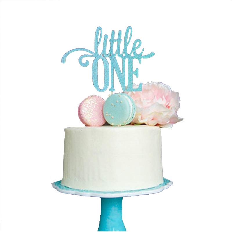 Awe Inspiring 1Pcs Glitter Blue Little One Cake Topper Boy First Birthday Party Funny Birthday Cards Online Chimdamsfinfo