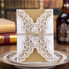 50pcs Luxury Laser Cut Wedding Invitations Cards Envelope Vintage Elegant Birthday Greeting Card Kits Event Party Supplier