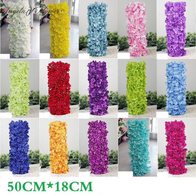 Festive & Party Supplies Noble Carpet Type Hydrangea Diy Wedding Setting Wall Decoration Road Led Flower T Stage Decorative Hotel Shop Show Me The Way