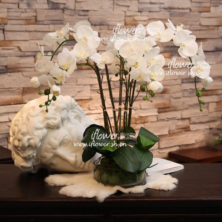 Künstliche Dekorationen Festliche & Party Supplies Künstliche Orchidee Blume Anordnung Bonsai Blume Nur Keine Vase Krankheiten Zu Verhindern Und Zu Heilen