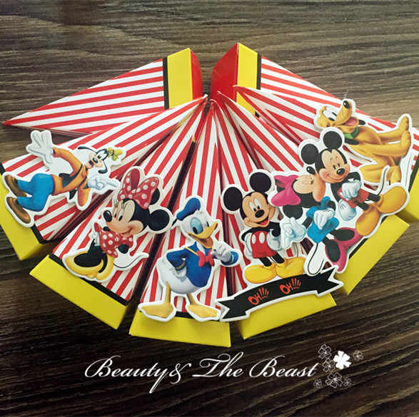 Mickey Minne Candy Box Gift Box Dessert Kids Party Supplies Birthday Party Decorations Kids Event Baby Shower Candy Bar