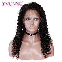 YVONNE Brazilian Deep Wave Full Lace Wigs Human Hair with Baby Hair 180% Density Virgin Human Hair Wig
