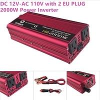 Inverter 2000W Dual USB Car Inverter 12v 110v DC To AC Power Inverter Charger Vehicle Power
