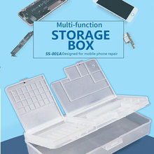 Multi-function Mobile Phone LCD Screen Mainboard IC Parts Screw Plastic Storage Box Electronic Components Hand Tool Organizer