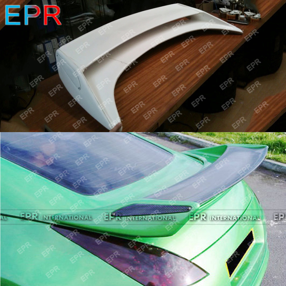 For Nissan 350Z Glass Fiber Rear Spoiler Body Kit Car Styling Auto Tuning Part For 350Z Fiberglass Nismo Version 2 Rear Spoiler