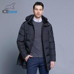 Image 2 - ICEbear 2019 最高品質暖かい男性の暖かい冬ジャケット防風カジュアルなアウターウェア厚いミディアムロングコートの男性のパーカー 16M899D