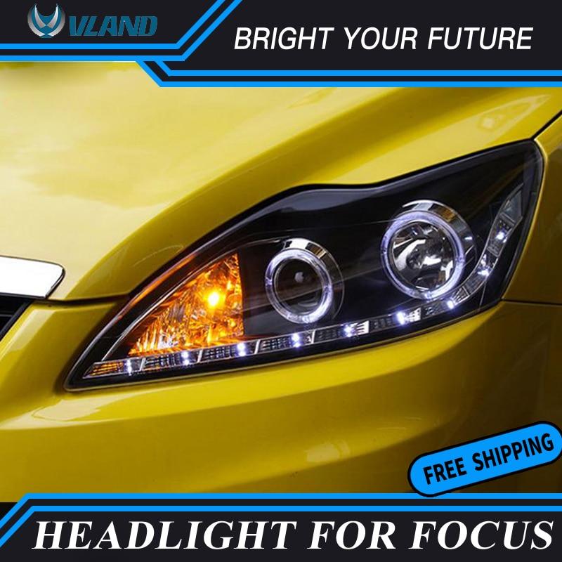 Ангельские глазки фара для Ford Focus светодиодный 2009 2014 фары поворотов