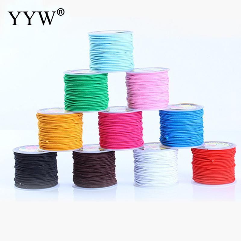 100 метров/roll 1 мм из бечёвки нейлон шнуры/строка китайский узловой шнур эластичной нитью шнур леска для бисера DIY браслеты, ювелирные изделия