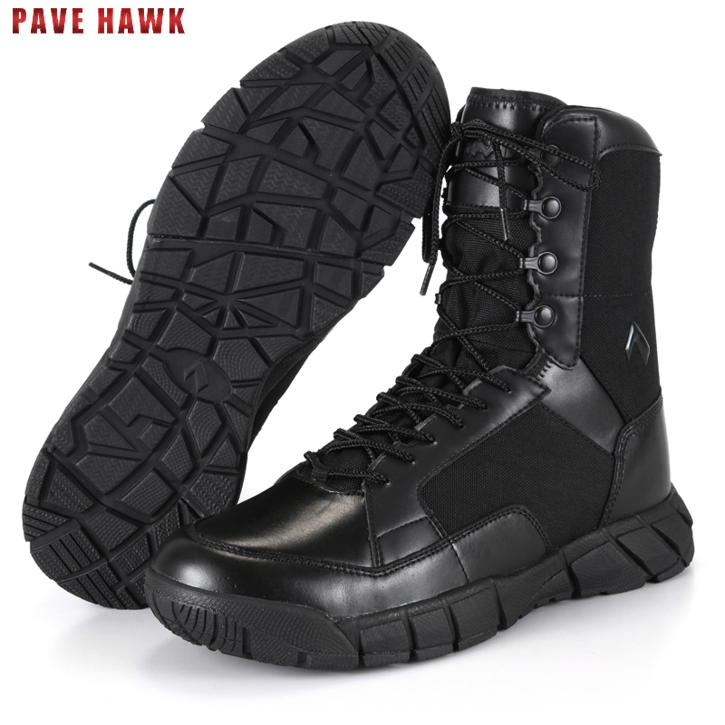 TB Waterproof Breathable Leather Army Military Tactical Boots Hiking Shoes Men Outdoor Sport Desert Trekking Climbing