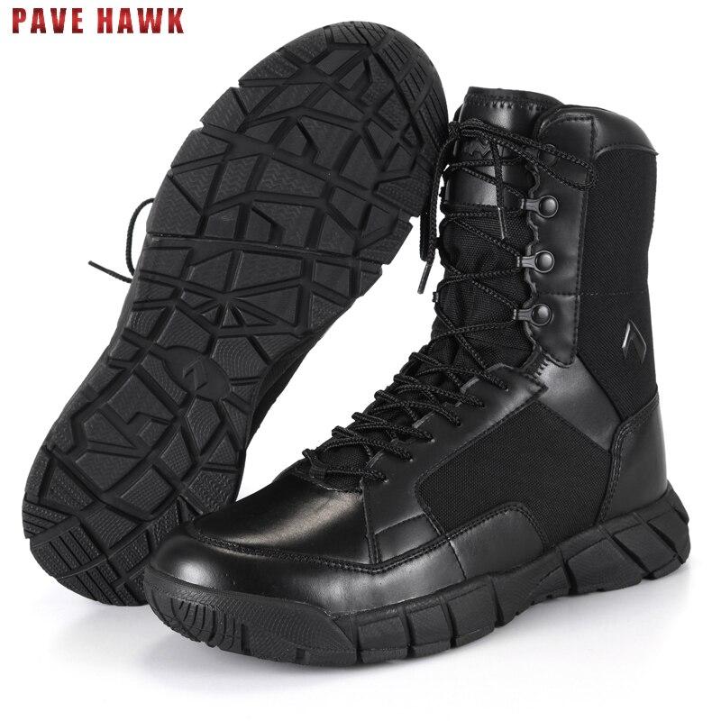 TB Étanche Respirant En Cuir Armée Militaire Tactique Bottes de Randonnée Chaussures Hommes Sport En Plein Air Désert Trekking Escalade Sneakers