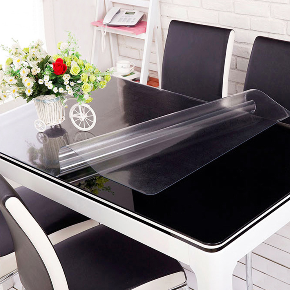 online buy wholesale modern tablecloths from china modern  - yazi transparency pvc tablecloth waterproof party wedding home kitchendining placemat pad thickness mm(