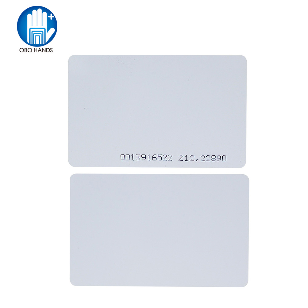 OBO HANDS Proximity 125KHz EM4100 RFID Proximity Smart Entry Access Employee ID Entry Card Thickness 0.8mm 50