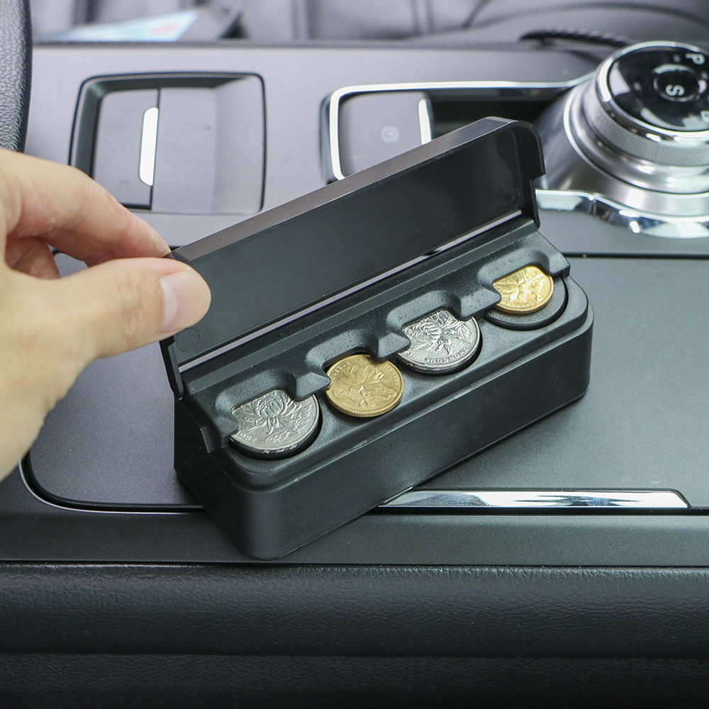 Car Orginazer Coin Case Storage Box Holder Container High Quality Car Coin Holder Black Car-styling Auto Accessories Plastic(China)