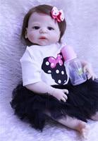 Reborn Baby full body silicone dolls 22inch 55cm like real babies newborn bebe doll rebon children gift toy dolls can bathe