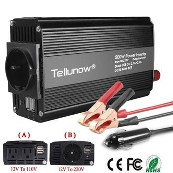 500 Вт Инвертор постоянного тока 12 В до 110 В/220 В переменного тока автомобильный инвертор с 4.2A двойной USB автомобильный адаптер трансформатор напряжения Преобразователь мощности бесшумный