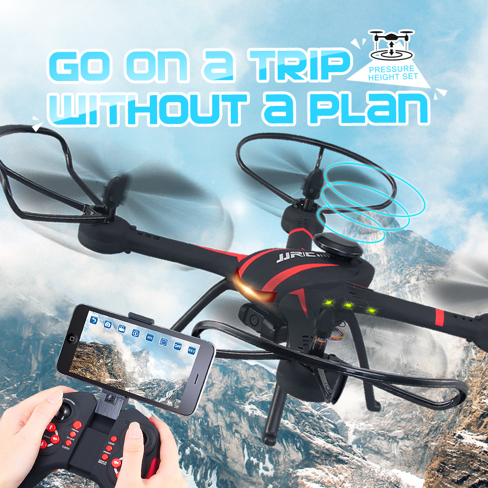 JJRC H11WH Drone With Camera Wifi Real Time Video Toy Fixed High Hover Rc Quadcopter Fpv Drone Flying Camera Helicopter Vs X5HW wireless video fpv rctransmitter receiver 5 8g 200mw 23dbm 8 channels for rc drone qav250 cctv camera video camera toy parts