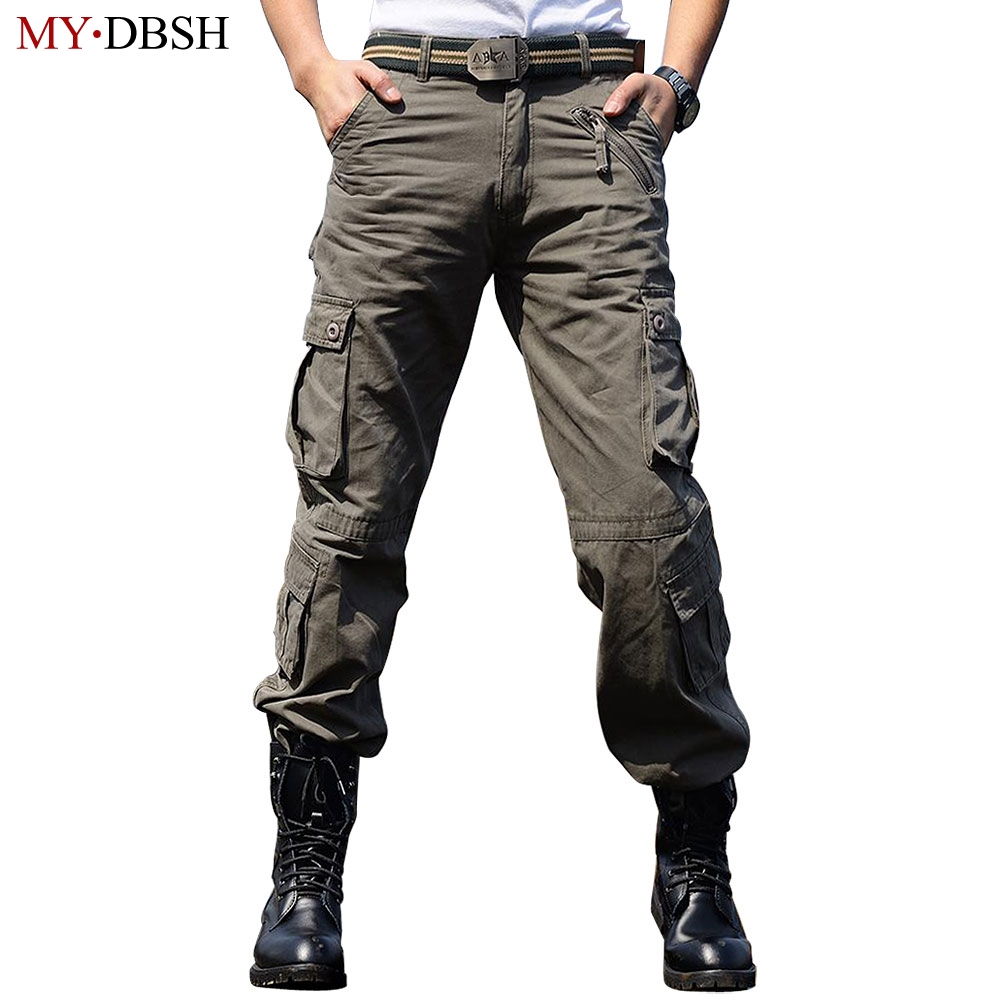New 2018 Vogue Army Combat Cargo Pants Trousers Loose Camo Pants Cotton Overalls Casual Pants Camouflage Cargo Pants Men 28-42