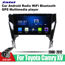 ZaiXi Android Car 2 din multimedia GPS Navigation For Toyota Camry XV 2006~2012 vedio stereo Radio audio wifi video map video yessun for chevrolet captiva epica 2006 2012 car android multimedia radio cd dvd player gps map navigation audio video stereo