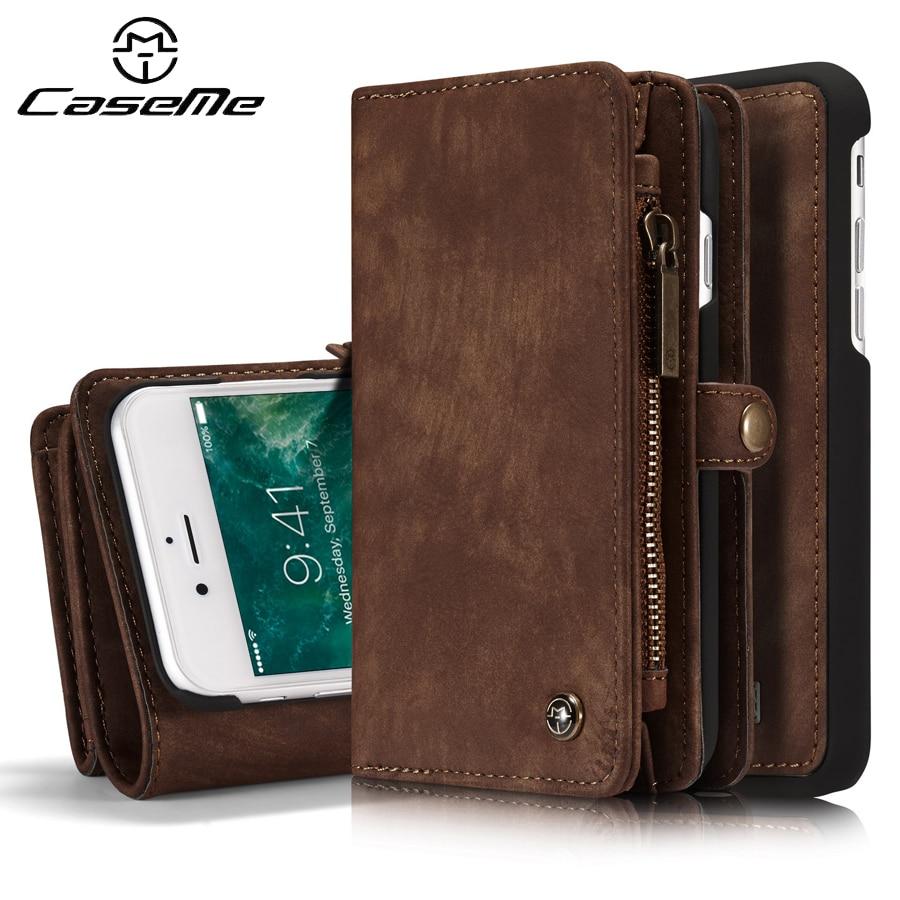 imágenes para Para case iphone 6 cubierta s más tirón de la carpeta de lujo de cuero completo cubierta protectora del teléfono para apple iphone 6s 6 s 7 más accesorios