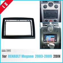 2 DIN адаптер CD накладка панель стерео интерфейс Радио Автомобильная рамка панель для RENAULT Megane II 2003-2009, 2Din/2 din