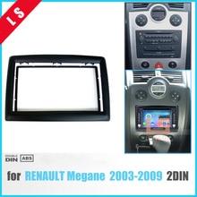 2 DIN адаптер CD отделкой Панель стерео Интерфейс радио каркас Панель фасции для Renault Megane II 2003-2009, 2Din/2 DIN