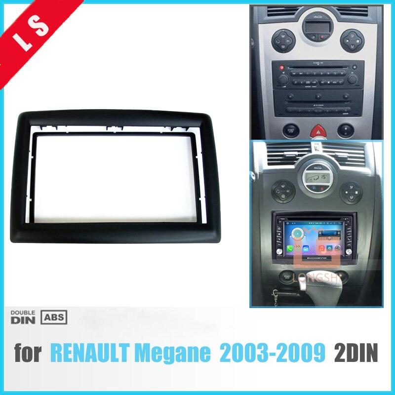 2 DIN Adapter CD Trim Panel Stereo-schnittstelle Radio Auto Frame Panel Fascia für RENAULT Megane II 2003-2009, 2Din/2 din