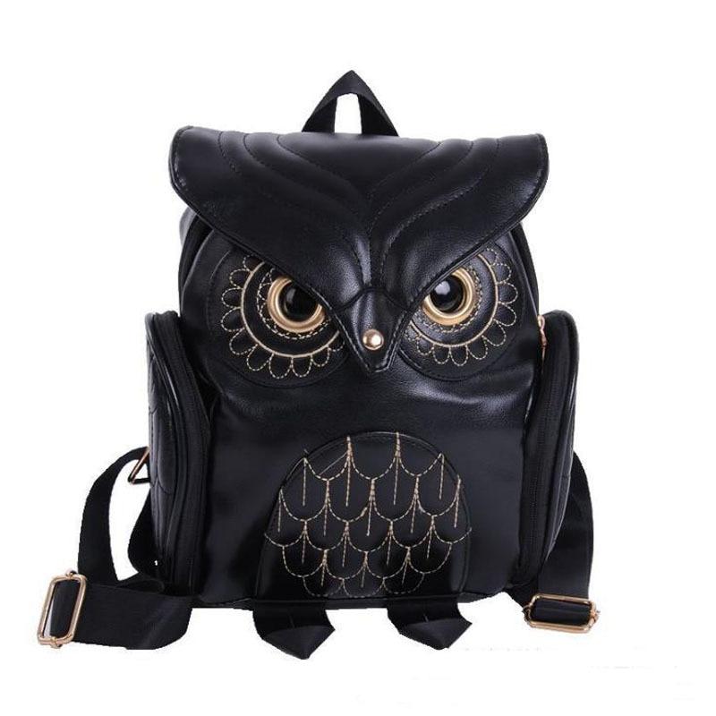 Fashion Cute owl Backpack Women School Bags For Teenagers Girls PU Leather Women Backpack Mochila Sac A Dos