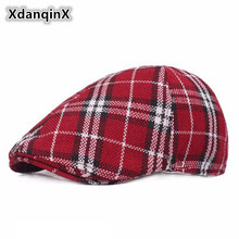 XdanqinX Womens Plaid Retro Berets British Fashion Sun Visor Cap For Adult Women Sombrero De Mujer Female Brands Vintage Caps