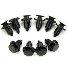 QILEJVS 10Pcs 9mm Hole Nylon Rivet Fastener Fender Retainer Push in Clips for Honda