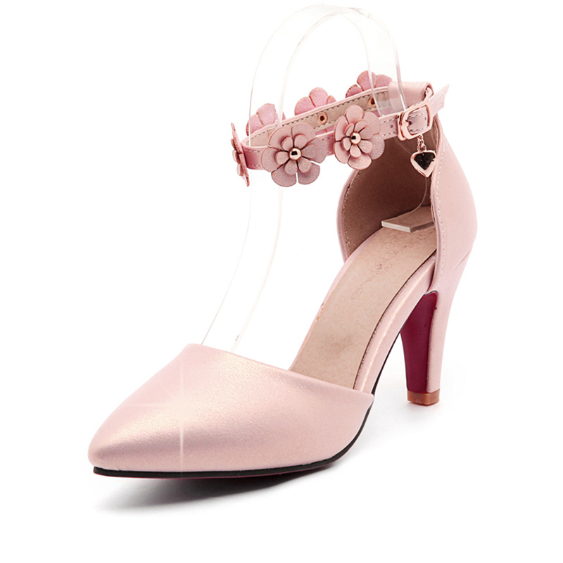 ФОТО Shoes woman high heel gold sexy wedges women shoes pumps with flowers 2017 spring autumn  high heels big plus size 41 42 43