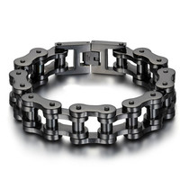 Tread Bracelet Stainless Steel Multifunction Wearable Tool Punk Outdoor Titanium Steel Men Thick Bicycle Chain