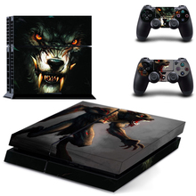 Vinyl Decal Skin Sticker Cover of The werewolf for Sony PS4 PlayStation 4 and 2 controller skins
