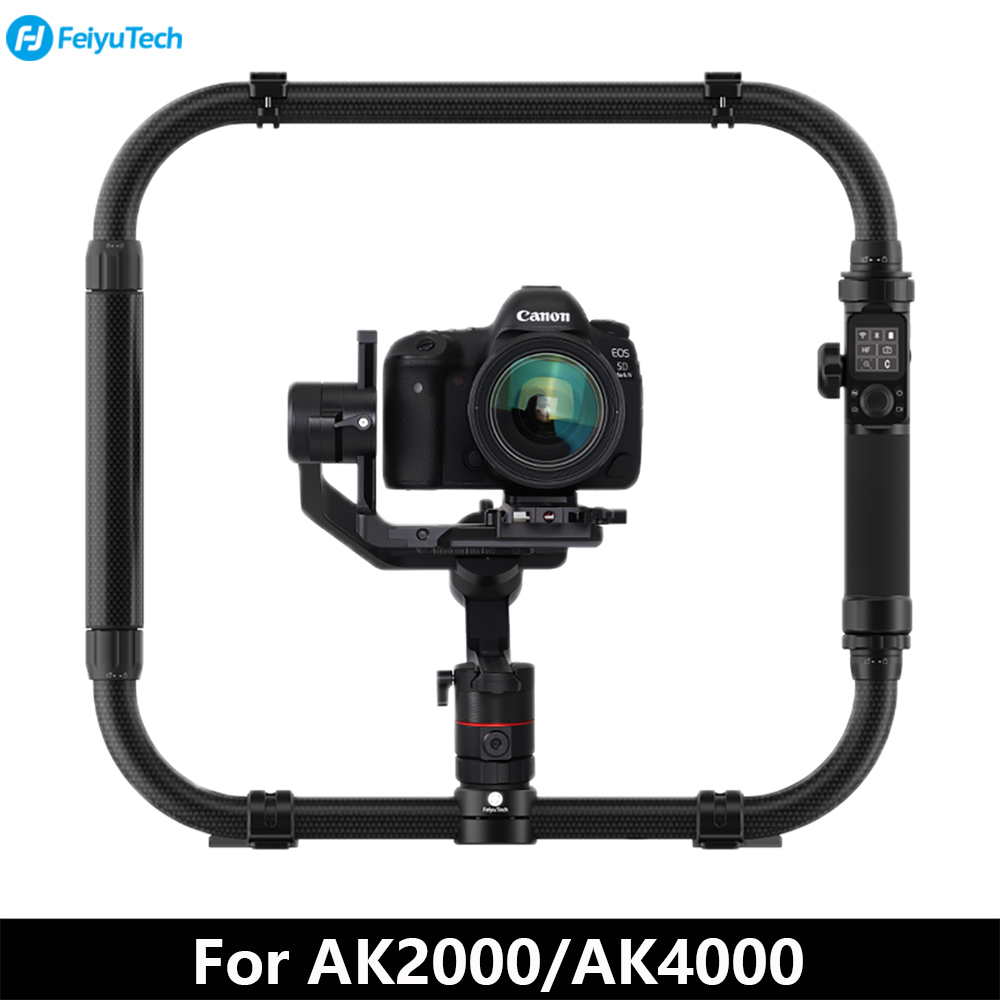 FeiyuTech Feiyu AK Serie Giunto Cardanico Accessori A mano Pieghevole Set Dual Hangle Grip per AK2000 AK4000 DSLR Stabilizzatore Giunto Cardanico