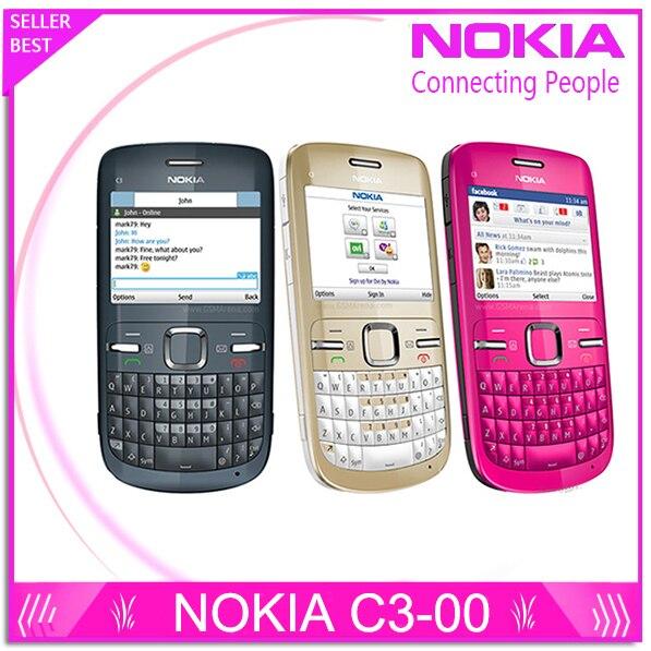 C3 Original Nokia C3 00 WIFI 2MP Bluetooth Jave Unlock Cell Phone Free Shipping