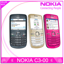 C3 Original Nokia C3-00 WIFI 2MP Bluetooth Jave Unlock Cell Phone Free Shipping