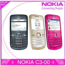 C3 Original Nokia C3-00 WIFI 2MP Bluetooth Jave Débloquer Téléphone portable Livraison Gratuite
