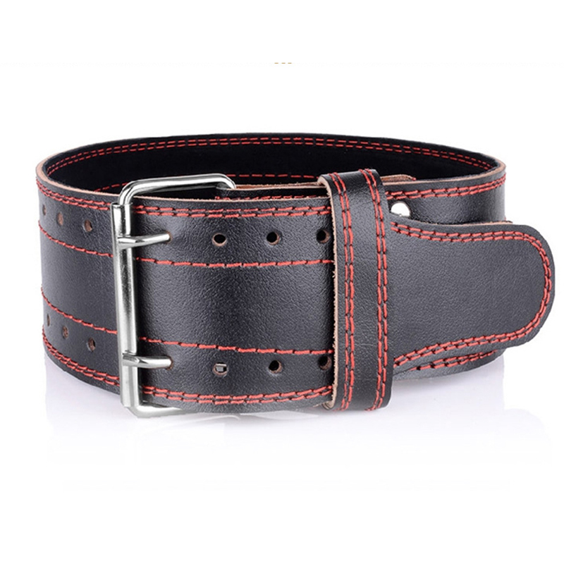 Weightlifting Cowhide Leather Belt Gym Fitness Weight lifting Back Support Power Training Blet Equipment Free Shipping цены онлайн