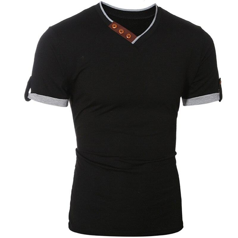 Summer New Men's Solid Color men Short sleeve Sleeved T-shirt fashion tshirts mens clothing t shirts