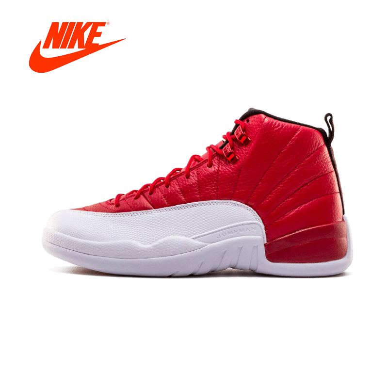 Original New Arrival Authentic Air Jordan 12 Retro Gym Red Mens Basketball Shoes Sneakers Breathable Sport Outdoor new japanese original authentic vfr3140 5ezc