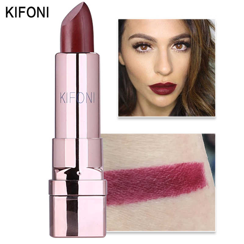חדש הגעה KIFONI מותג איפור יופי מט שפתון לאורך זמן גוון שפתי קוסמטיקה שפתיים מקל maquiagem איפור אדום batom