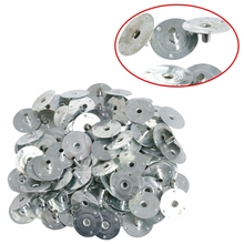 Candle Wick Gift Sustainer Silver Metal for Tabs 100/200pcs