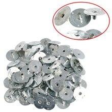 100/200 Uds mecha de vela Metal Sustentador Wick pestañas de plata para fabricación de velas regalo de 12,5*2,5mm