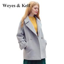 Weyes & Kelf New Winter Double Breasted Coats Women 2017 Long Wool Ladies Winter Coats Women Coat  Winter Trench Coats Women